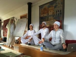 Eesti grupp õpetades Quinta do Rajos